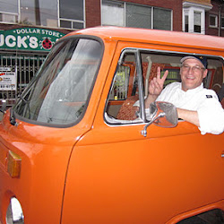 Michael Fresco in his orange van